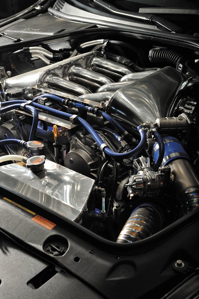 ーストアップ仕様ながら600hpレベルのエンジンはBRITZ製パーツで武装