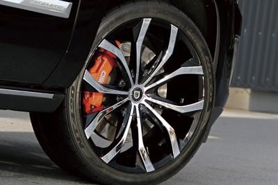 LEXANI LUST 24インチホイールとCSDのブレーキ、35サイズのタイヤを履く