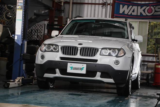 2007年式BMW X3 3.0si、アイスフューズインプレッション
